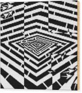 Nano Curcuits Maze  Wood Print