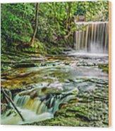 Nant Mill Waterfall Wood Print
