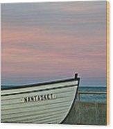 Nantasket Beach Boat Wood Print