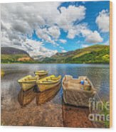 Nantlle Lake Wood Print