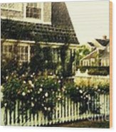 Nantucket Cottage Wood Print