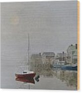 Nantucket Fog Wood Print by Karol Wyckoff