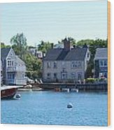Nantucket Harbor Wood Print by Lorena Mahoney