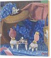 Nantucket Mermaid Tea Wood Print