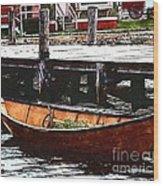 Nantucket Sleigh Ride Whaleboat Wood Print