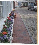 Nantucket Street Scene Wood Print