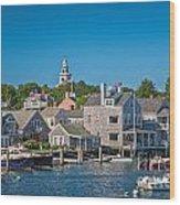 Nantucket Town Wood Print
