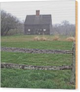 Nantucket's Oldest House Wood Print