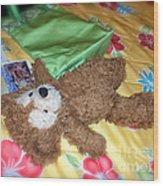 Nap Time Bear Wood Print