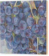 Napa Grapes 1 Wood Print by Nick Vogel