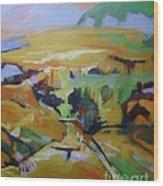 Napa Valley Perriwinkle Sky Wood Print