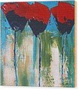 Napa Valley Red Poppys Wood Print