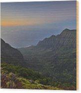 Napali Coastline Kauai Wood Print