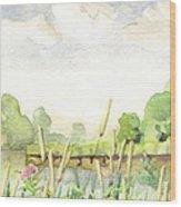 Napanee River West Wood Print