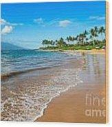 Napili Beach Paradise Wood Print