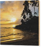 Napili Sunset Evening  Wood Print