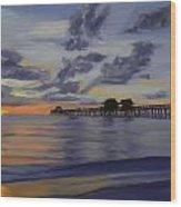 Naples Pier Naples Florida Wood Print