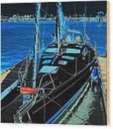 Naples Yacht Wood Print