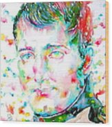 Napoleon Bonaparte - Watercolor Portrait Wood Print