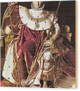 Napoleon I On His Imperial Throne Wood Print