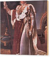 Napoleon In His Coronation Robes  Wood Print