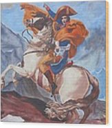 Napoleon On A Horse In The Alps Wood Print