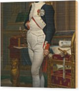Emperor Napoleon In His Study At The Tuileries Wood Print
