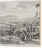 Napoleon's Army Crosses The  Neman Wood Print