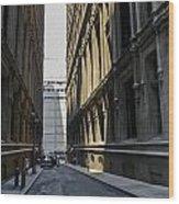 Narrow Manhattan Street Wood Print