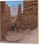 Narrow Passage 1 Wood Print