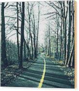 Narrow Path Wood Print