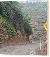 Narrow Road - North Maui Wood Print