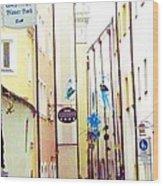 Narrow Street In Passau Germany Wood Print