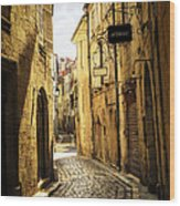 Narrow Street In Perigueux Wood Print by Elena Elisseeva