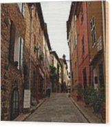 Narrow Street In Provence Wood Print