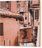 Narrow Streets Of Albarracin  Wood Print