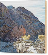 Narrowing Of Trail In Big Painted Canyon Trail In Mecca Hills-ca Wood Print