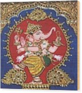 Narthana Ganapathi Wood Print