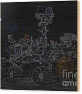 Nasa Vehicle System Vstb Rover On The Dark Side Wood Print