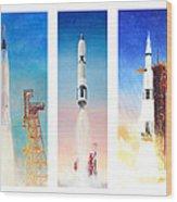 Nasa Rockets Wood Print