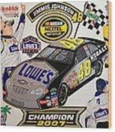 Nascar 2007 Champion Wood Print