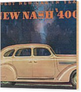 Nash 400 - Vintage Car Poster Wood Print
