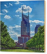 Nashville Batman Building Landscape Wood Print