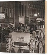 Nashville Carriage Ride Wood Print