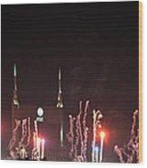Nashville Fireworks 2014 Close Up Wood Print
