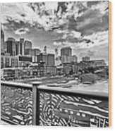 Nashville From The Shelby Bridge Wood Print