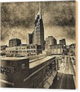 Nashville Grunge Wood Print