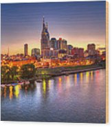 Nashville Skyline Wood Print by Brett Engle