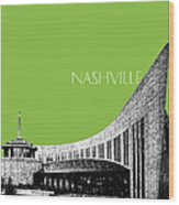 Nashville Skyline Country Music Hall Of Fame - Olive Wood Print by DB Artist