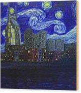 Dedication To Van Gogh Nashville Starry Nights Wood Print